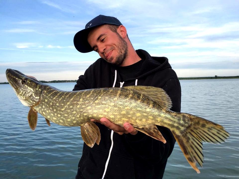Moniteur guide de pêche des carnassiers aux leurres sur le lac de Madine